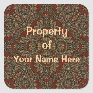 Property of Tapestry Stickers (Personalise)