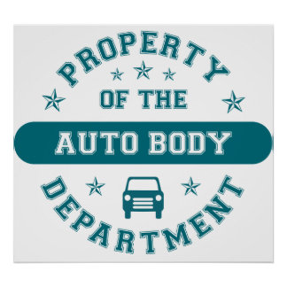 Property of the Auto Body Department Print