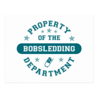 Property of the Bobsledding Department Postcard