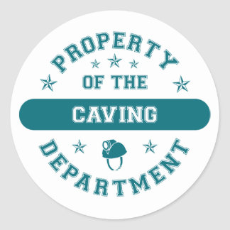 Property of the Caving Department Classic Round Sticker