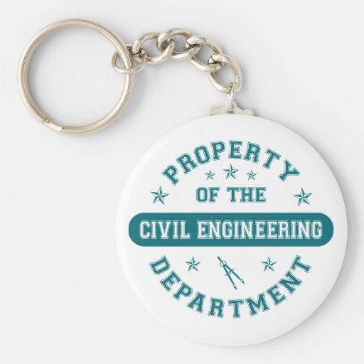 Property of the Civil Engineering Department Key Chains