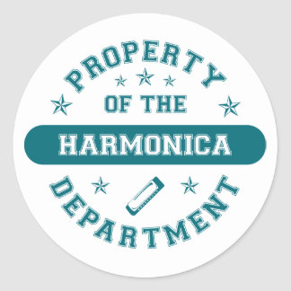 Property of the Harmonica Department Classic Round Sticker