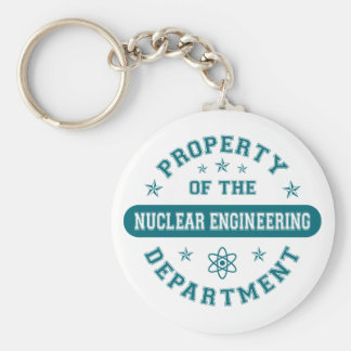 Property of the Nuclear Engineering Department Basic Round Button Keychain