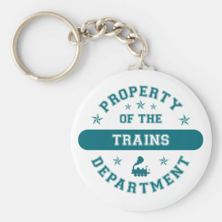 Property of the Trains Department Keychain