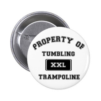 Property of Tumbling Trampoline 2 Inch Round Button