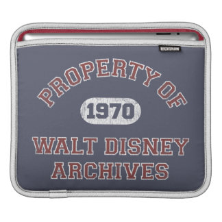 Property of Walt Disney Archives Sleeves For iPads
