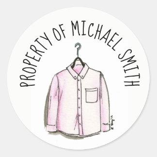 Property of Wardrobe Men's Stylish Shirt Fashion Classic Round Sticker