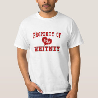 Property of Whitney T-Shirt