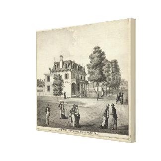 Property of Wm V Reid, Villa Park, NJ Canvas Print