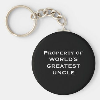 Property of WORLD'S GREATEST UNCLE Keychain