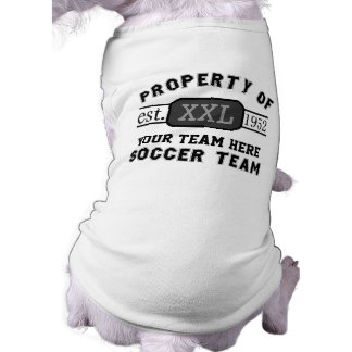 Property of Your Soccer Team Custom Name Shirt