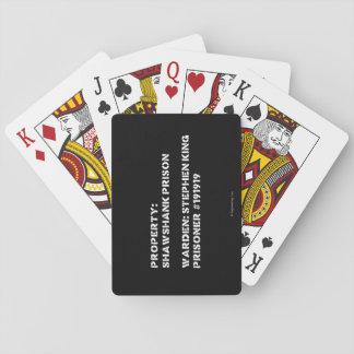 Property: Shawshank Prison Playing Cards