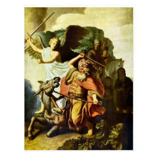 Prophet Balaam and the donkey by Rembrandt Postcard