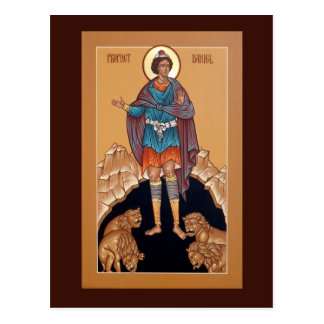 Prophet Daniel in the Lion's Den Prayer Card