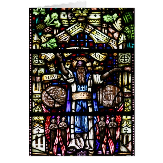 Prophet Isaiah Stained Glass Art Card