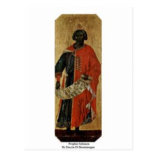 Prophet Solomon By Duccio Di Buoninsegna Postcard