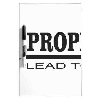 prophets lead to god Dry-Erase boards