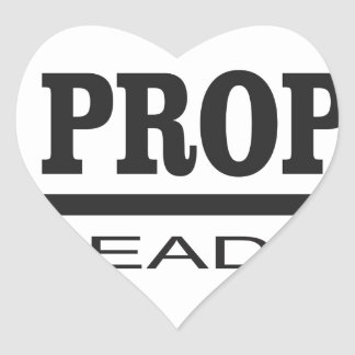 prophets lead to god heart sticker