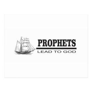 prophets lead to god postcard
