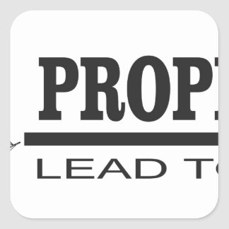prophets lead to god square sticker
