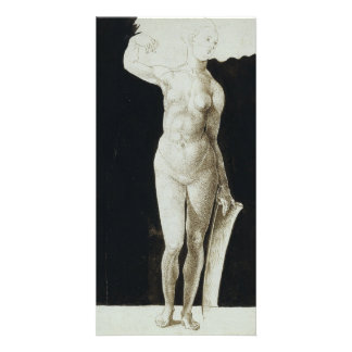 Proportion Study of Human Figure by Durer Customized Photo Card