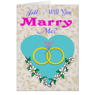Proposal Of Marriage Valentine Card