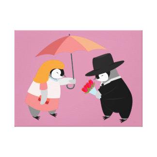 Propose Penguin Canvas Prints