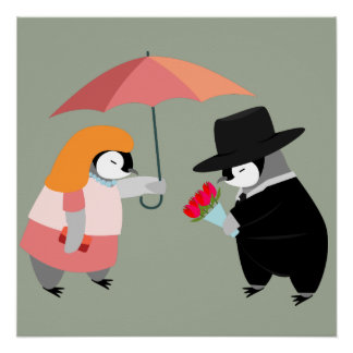 Propose Penguin Perfect Poster