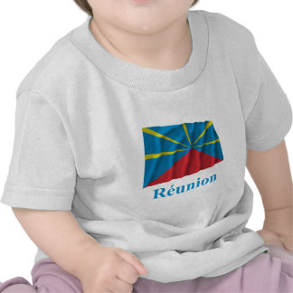 Proposed Reunion Island Waving Flag Name in French Tees