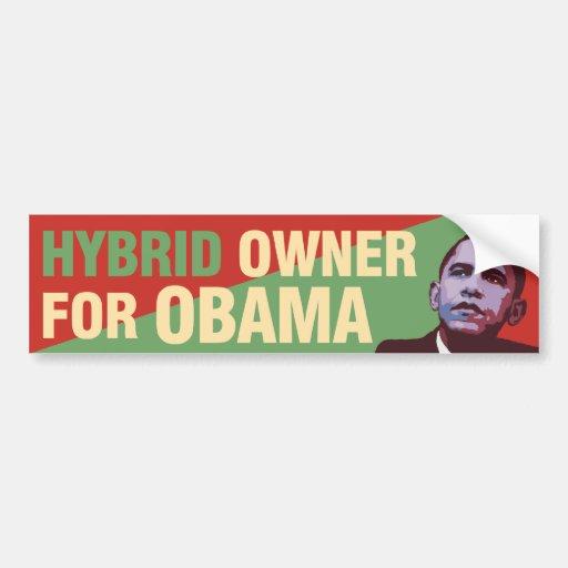 Propriétaire hybride pour Obama - adhésif pour par Autocollants Pour Voiture
