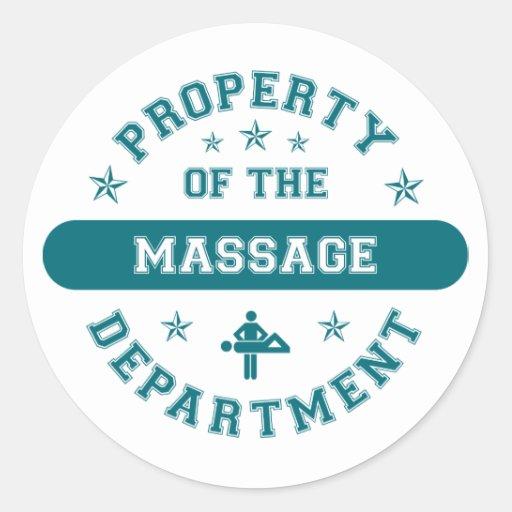 Propriété du département de massage adhésif rond