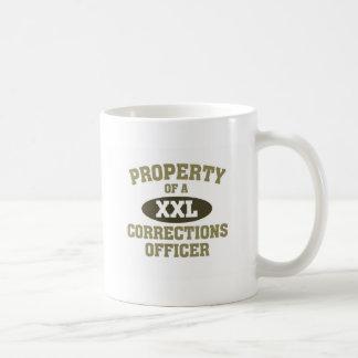 Propriété d'un dirigeant de corrections mug blanc