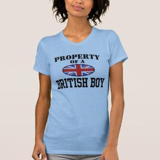 Propriété d'un garçon britannique t-shirts