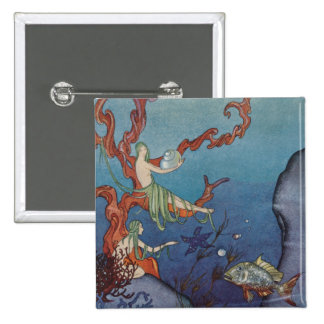 Proserpina and the Sea Nymphs Pinback Buttons
