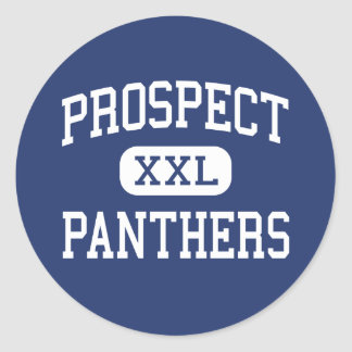Prospect - Panthers - High - Saratoga California Classic Round Sticker