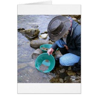 Prospectors Gold Panning Mug Card