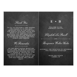 Prospectus 21,6 Cm X 24,94 Cm Modèle chic de programme de mariage de tableau