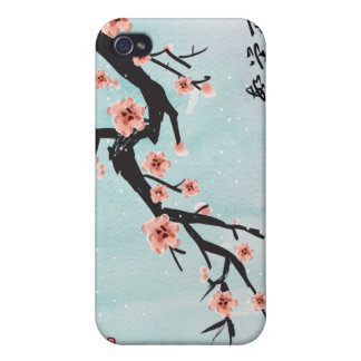 """Prosperity Blossoms"" Chinese Cherry Blossoms iPhone 4 Cover"