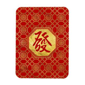 Prosperity Feng Shui Symbol  in bagua shape Magnet