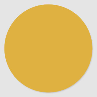 Prosperously Golden Gold Color Classic Round Sticker