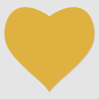 Prosperously Golden Gold Color Heart Sticker