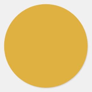 Prosperously Golden Gold Color Round Sticker