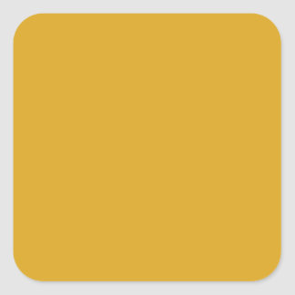 Prosperously Golden Gold Color Square Sticker