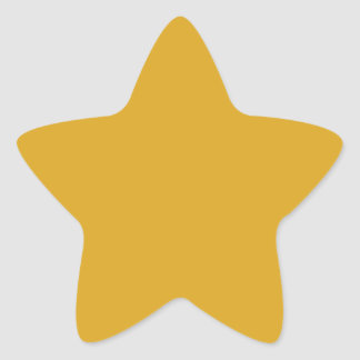 Prosperously Golden Gold Color Star Sticker