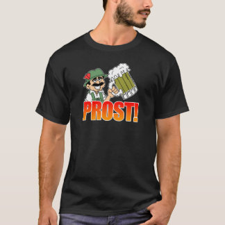 Prost German Lederhosen Big Beer Cartoon T-Shirt