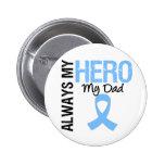 Prostate Cancer Always My Hero My Dad 2 Inch Round Button