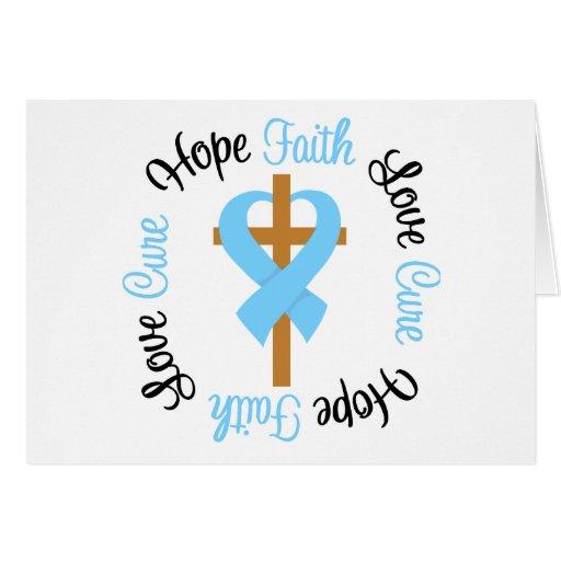 Prostate Cancer Faith Hope Love Cross Card