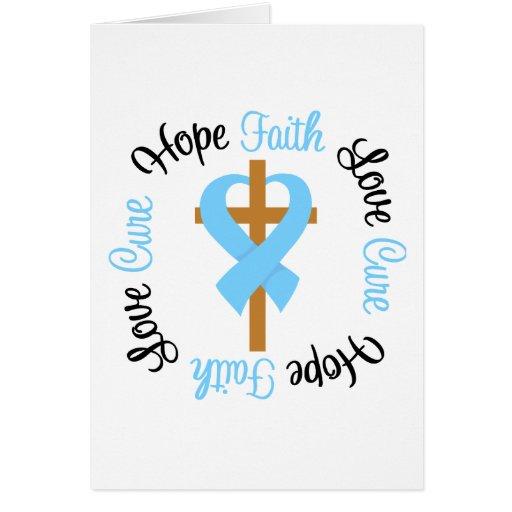 Prostate Cancer Faith Hope Love Cross Greeting Cards