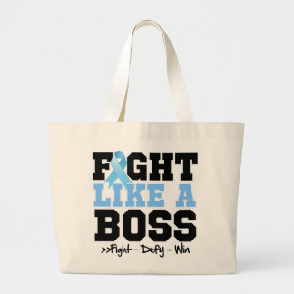 Prostate Cancer Fight Like a Boss Tote Bags