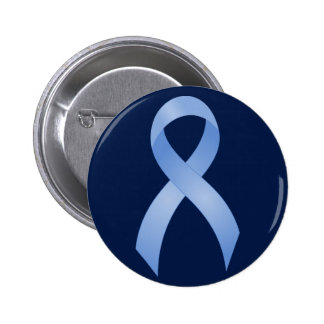 Prostate Cancer Light Blue Ribbon 2 Inch Round Button
